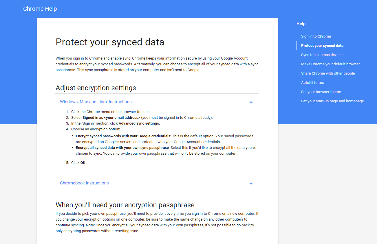 Google Chrome Support Material Design