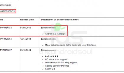Sprint Galaxy Note 3 Lollipop OTA Update arrives, N900PVPUEOC5