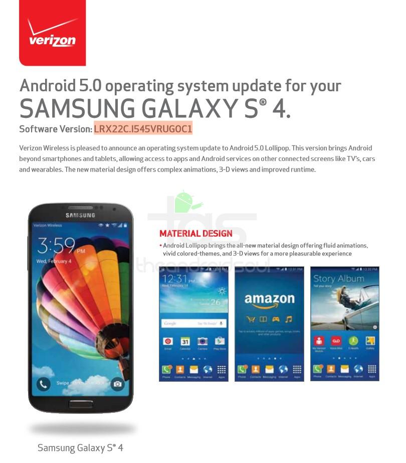 Samsung S4 Update Lollipop