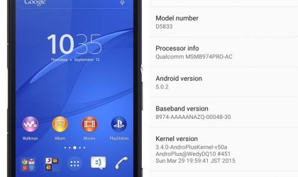Get the Lollipop update for Sony Xperia Z3 Compact D5833
