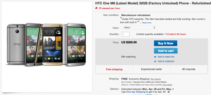 htc one m8 deal