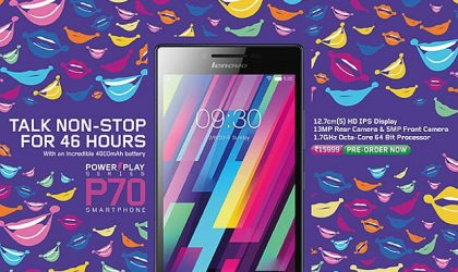 Lenovo P70 with 4,000 mAh Battery Up for Pre-order in India for Rs 15,999