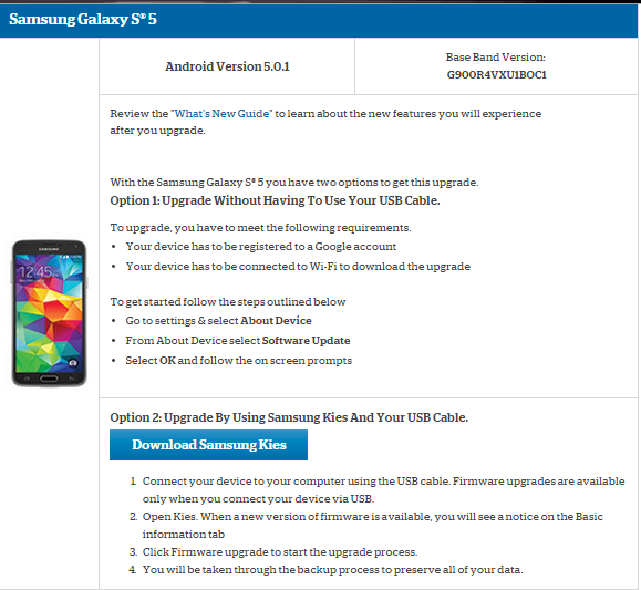 us cellular galaxy s5