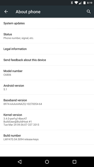 Sony Z Ultra Google Play Edition Receives Android 5.1 Lollipop Update