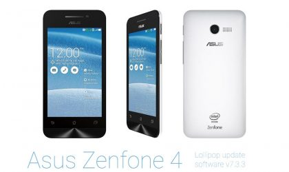 Asus Zenfone 4 gets Official Android 5.0 Lollipop update as OTA
