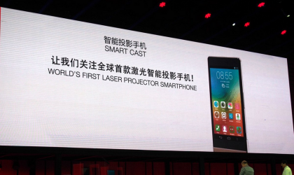 Lenovo introduces Smart Cast: Smartphones with embedded laser projector