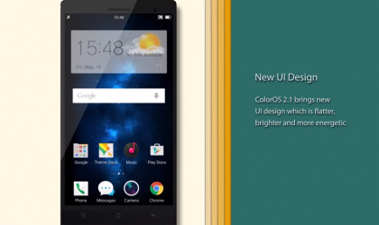 Oppo announces ColorOS 2.1 with Android 5.0 Lollipop, but doesn't embraces Material design