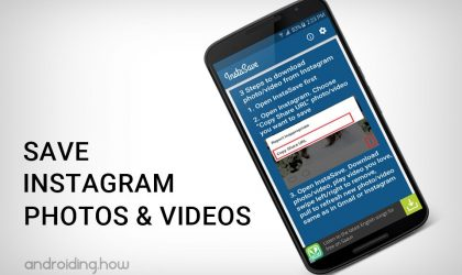 Download and Save Instagram Photos and Videos using InstaSave app on your Android device
