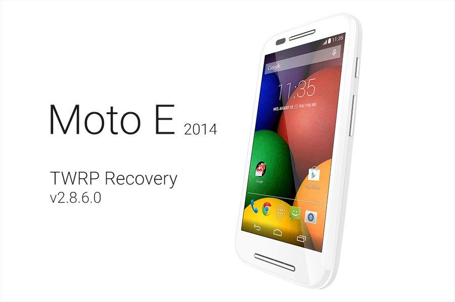 Moto E TWRP recovery v2.8.6.0