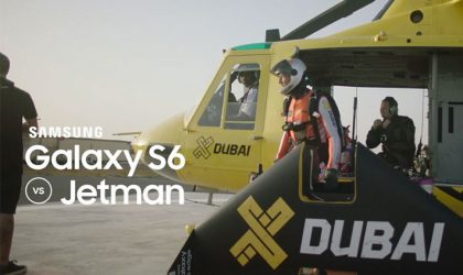Samsung joins hands with Jetman Rossy in advertisement bid for the Galaxy S6