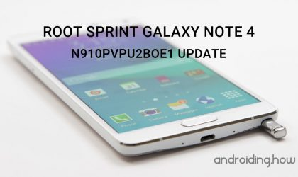 How to Root Sprint Galaxy Note 4 on N910PVPU2BOE1 Update