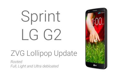 Download Official Sprint LG G2 ZVG update already rooted and debloated