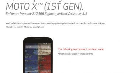 Verizon Moto X 1st Gen. receiving an OTA update today (212.166.3), but it's not Lollipop