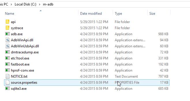 c drive adb folder