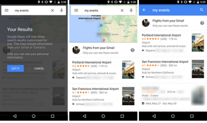 Google Maps Update Brings Support to Search for Reservations, Flights and Hotel Bookings