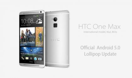 How to Install Android 5.0 Lollipop update on HTC One Max LTE 803s (4.12.709.2)