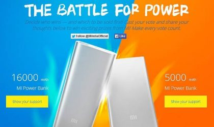 Xiaomi launches power banks: 16000 and 5000 mAh ones on the cards