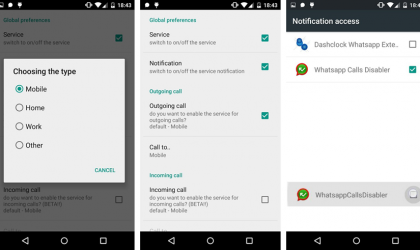 Disable Whatsapp Calls Application allows you to forbid the irritating Whatsapp Calls