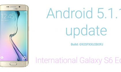 Download Samsung Galaxy S6 Edge Android 5.1.1 Update Firmware G925FXXU2BOFJ