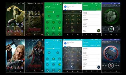 CM Theme Engine gets Galaxy S6 Marvel Avenger theme ported (Iron Man, Captain America, Thor and Hulk)