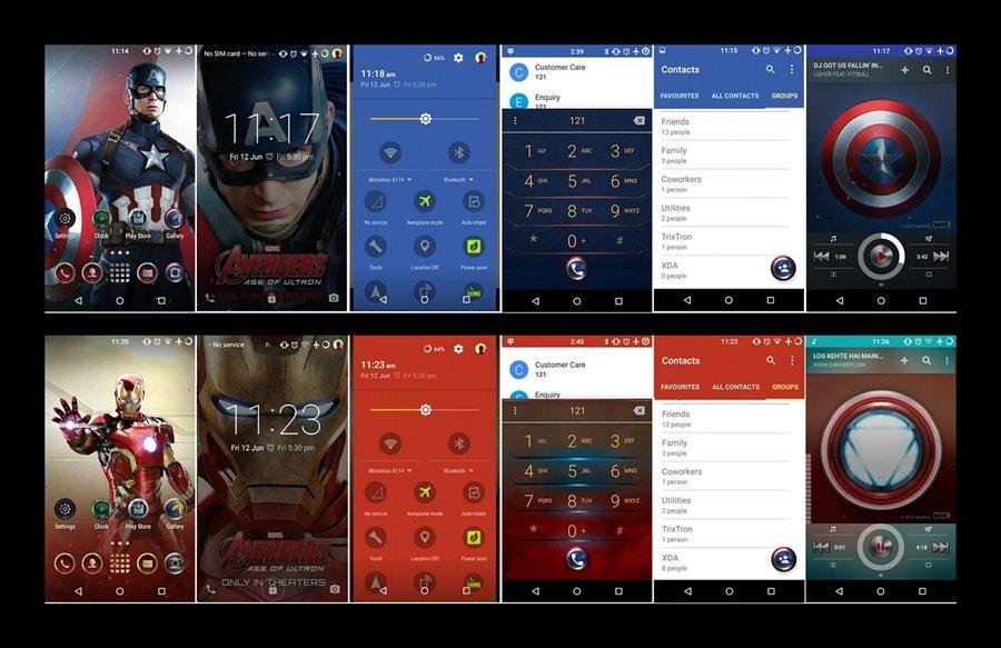 CM Theme Engine gets Galaxy S6 Marvel Avenger theme ported