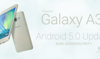 A300GXXU1BOF1: Download Samsung Galaxy A3 Lollipop Update Singapore (SM-A300G) [Odin TAR]