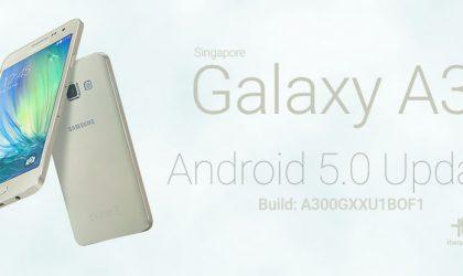 A300GXXU1BOF1: Download Samsung Galaxy A3 Lollipop Update Singapore (SM-A300G) [Odin TAR]