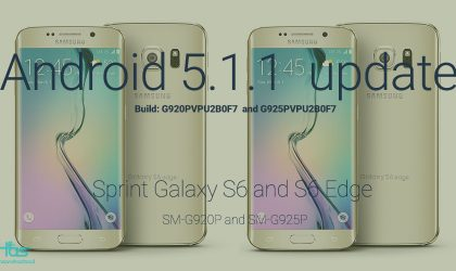 Sprint Galaxy S6 and S6 Edge receive Android 5.1.1 update, build OF7
