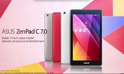 Asus ZenPad C 7.0 Tablet Revealed via Official Video