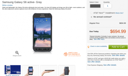 Samsung Galaxy S6 Active Available via AT&T for $695