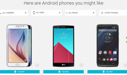 Find the best Android Smartphone with the new Google Tool