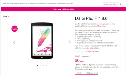 T-Mobile provides free LG G Pad F 8.0 for Father's Day