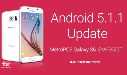 MetroPCS Galaxy S6 Android 5.1.1 update is live, build G920T1UVU2COF9