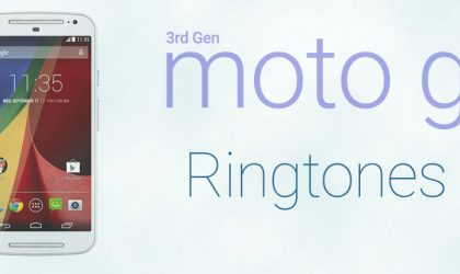Download 3rd Gen Moto G Ringtones