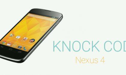 Nexus 4 gets LG's knock code with Hellscode!