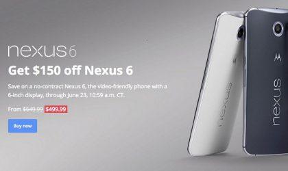 Motorola Nexus 6 Receives a Price Cut, Sells at $499