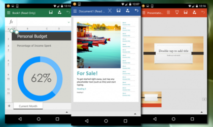 Microsoft Office for Android available for smartphones, free to download via Play Store