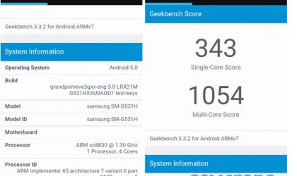 Samsung Galaxy Grand Prime Value Edition with Spreadtrum SoC Leaks via Benchmark