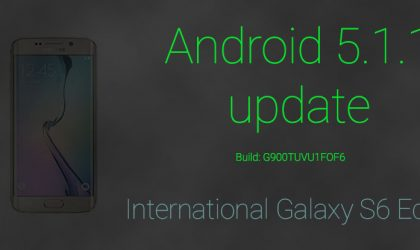 International Samsung Galaxy S6 Edge SM-G925F gets Android 5.1.1 update too!