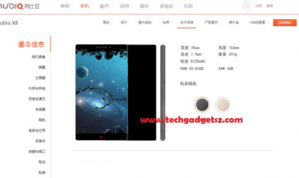 ZTE Nubia X8 with bezel-less Quad HD display and 5,120 mAh battery in the making