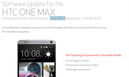 Verizon HTC One Max receiving new update, but it's not Android 5.0 or 5.1 [v3.09.605.3]