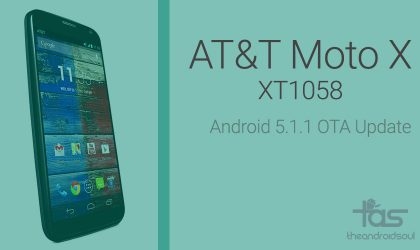 Download AT&T Moto X Android 5.1.1 OTA update and install manually