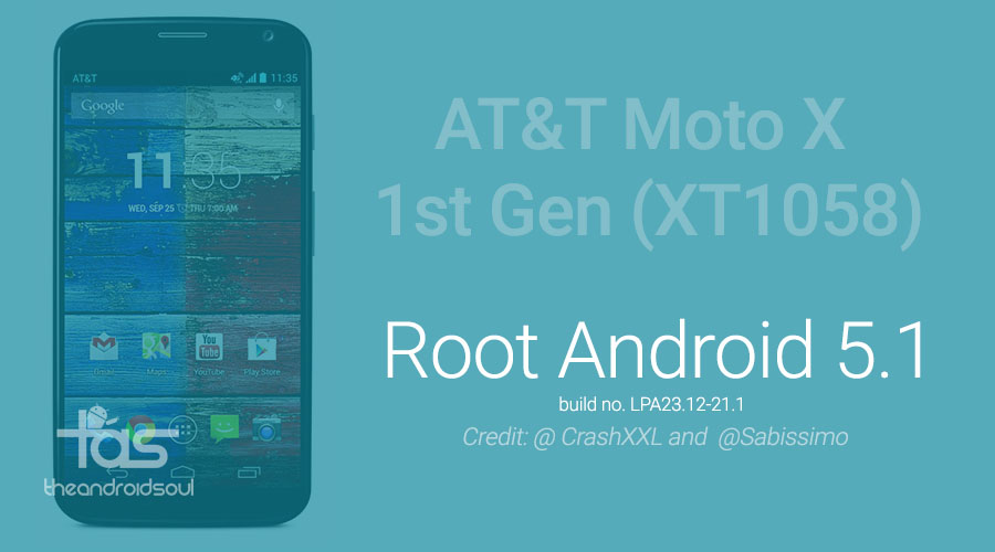 AT&T Moto X Android 5.1.1 Root now available!