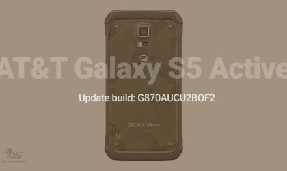 AT&T Galaxy S5 Active receiving new OTA update, build no. G870AUCU2BOF2