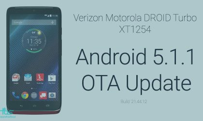 Download Verizon Droid Turbo Android 5.1.1 OTA update, with install instructions