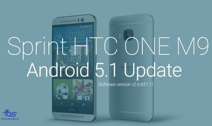 Sprint HTC One M9 Android 5.1 Update RUU v2.6.651.11: Download and Install Instructions