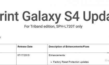 L720TVPECOF1: Sprint Galaxy S4 Triband edition gets new update, includes Factory Reset protection