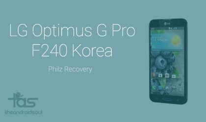Download LG Optimus G Pro PhilZ recovery, a good TWRP/CWM alternative