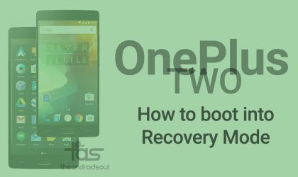 Boot OnePlus 2 into recovery mode