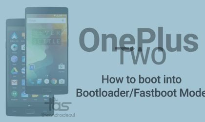 Boot OnePlus 2 into bootloader/fastboot mode